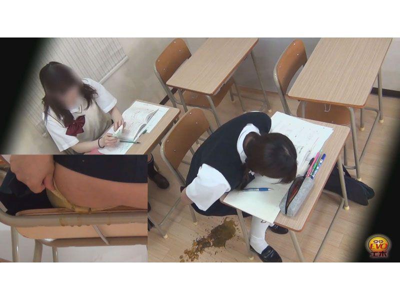 【排便盗撮】EVO 女子校生たちの脱糞お漏らしまとめ その1
