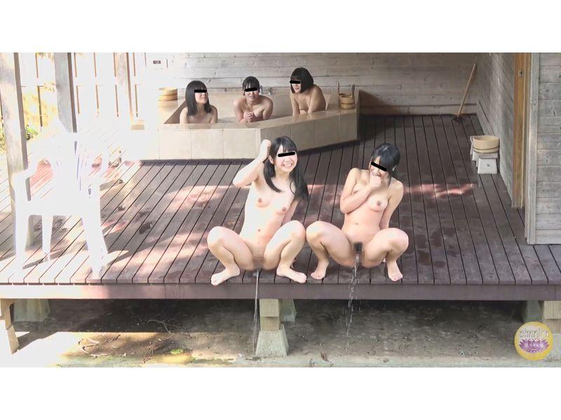 【排便盗撮】修学旅行女子校生たちの悪ノリ小便を隠し撮り その2