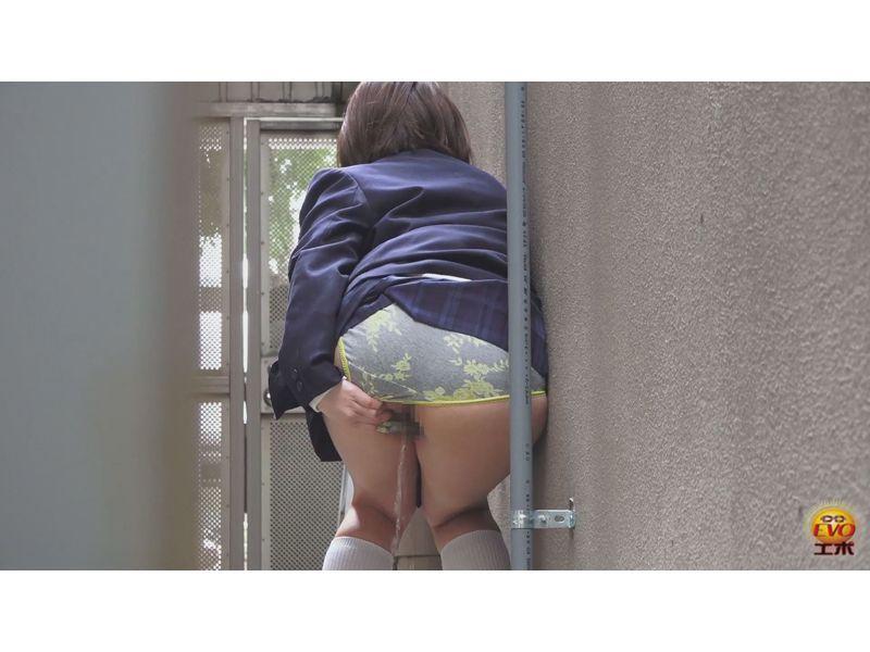 【排便盗撮】覗かれていた路地裏小便の瞬間 その1