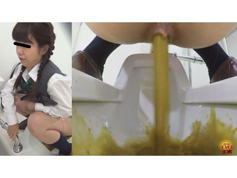 【排便盗撮】和式便所盗撮 女子校生のユルユルうんちを隠し撮り!軟便からシャバシャバの水下痢まで その5