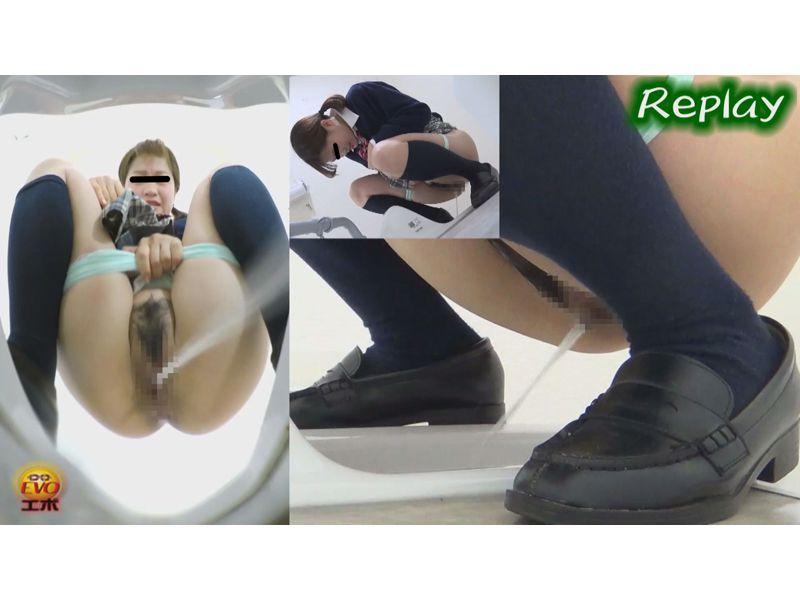 【排便盗撮】和式便所隠撮 女子校生の膀胱パンパンマンコから放たれる尿柱! その8