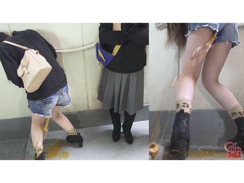 【排便盗撮】肛門括約筋がもう限界っ!トイレ順番待ち中に脱糞お漏らししてしまった女性たちw その8