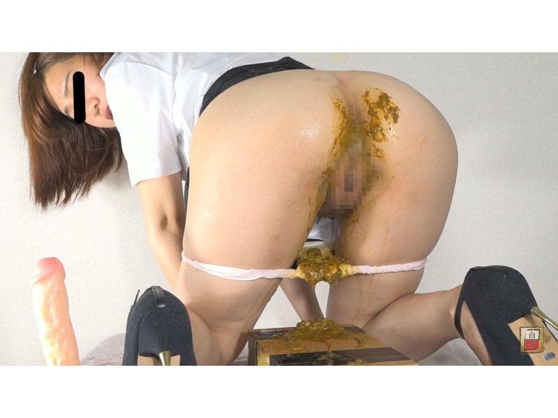ギャップ萌え☆純白パンツにビチ糞こんっもり!清楚系女子の大便お漏らし観察 その10