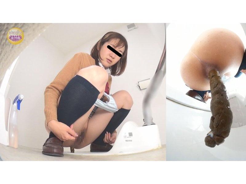 【排便盗撮】校内女子便所盗撮 浣腸で便秘解消する女子校生立ち その4