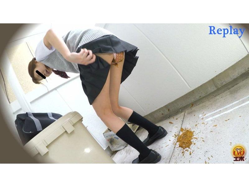 【排便盗撮】放課後女子校生の下校中下痢便お漏らし その8