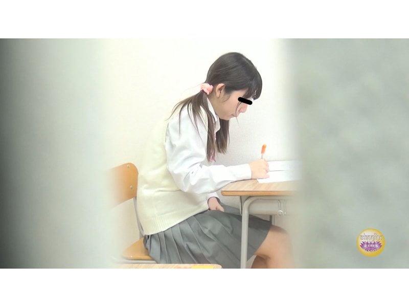 【排便盗撮】膀胱パンパン女子校生のすべり込み小便 その1