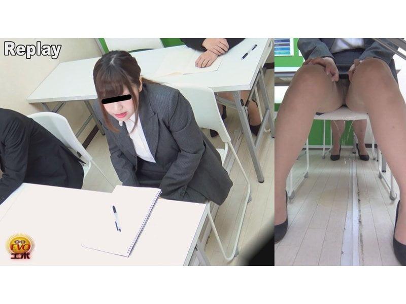 【小便】キャリアウーマンの大失禁観察 その1
