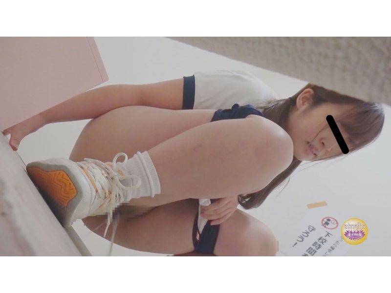 【排便盗撮】膀胱パンパン女子校生のすべり込み小便 その10