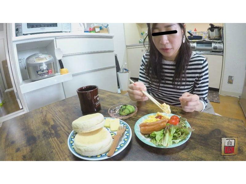 【大便】素人自画撮り 私のゴハンとウンチ☆素人娘の食生活と排便観察 その1