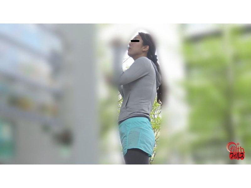 【排便盗撮】ジョギング中にお腹が… 公衆トイレ大便盗撮 美ジョガーうんこ その4