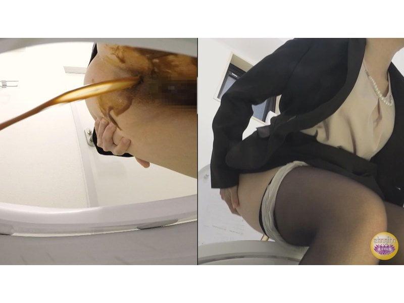 【排便盗撮】給湯室横トイレの気まずい排泄風景 その12