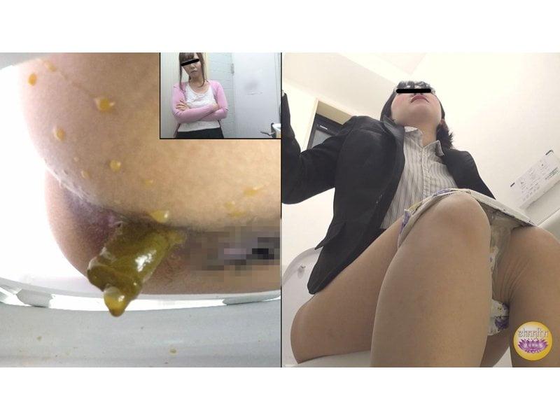 【排便盗撮】給湯室横トイレの気まずい排泄風景 その1