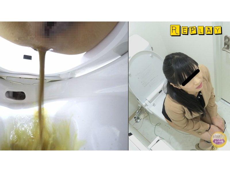 【排便盗撮】給湯室横トイレの気まずい排泄風景 その4