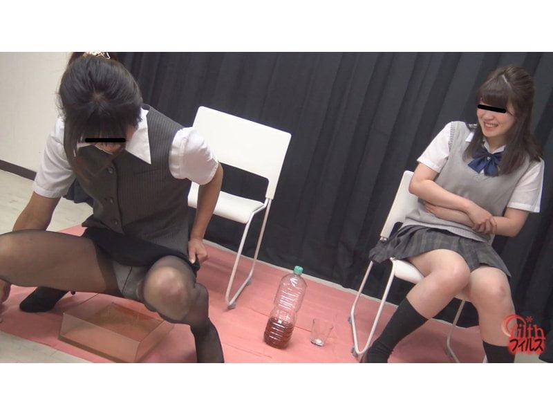 【小便】女子校生×OLのガチバトル勃発!オシッコ我慢対決 その9