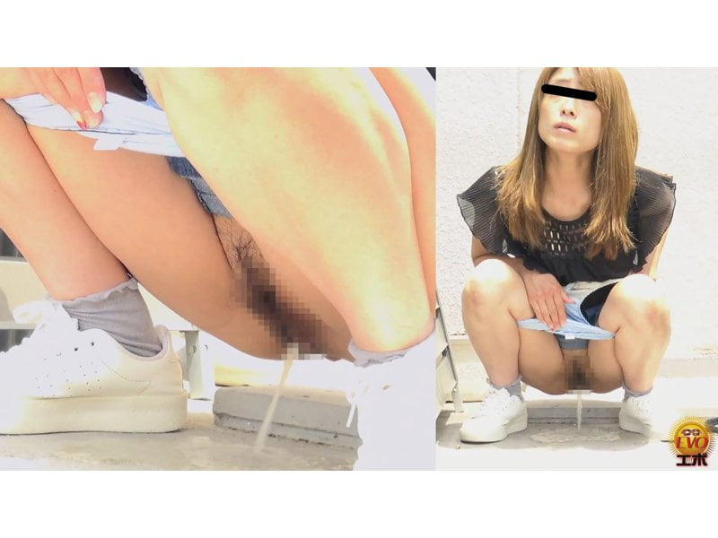 【排便盗撮】清楚系の女の子からギャルまで路地裏野ション盗撮まとめ【小便】 その6