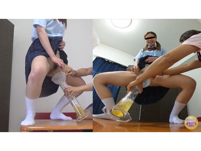 【排便盗撮】お金のために小便を売るブルセラ女子校生たちの採尿風景 その8