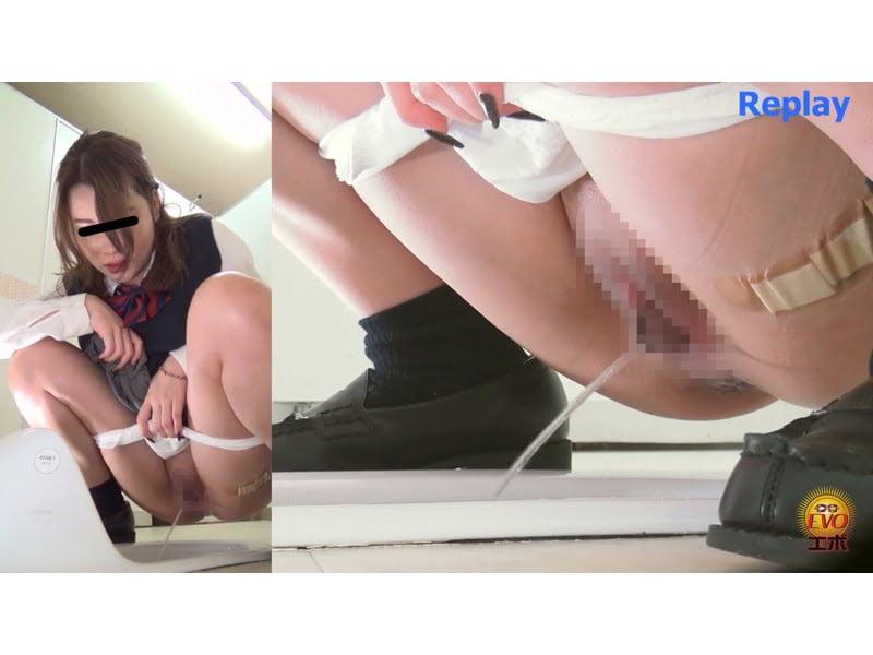 【排便盗撮】女子校生駆け込み小便 パンパン膀胱から放たれる長~~~~~~いオシッコ その3