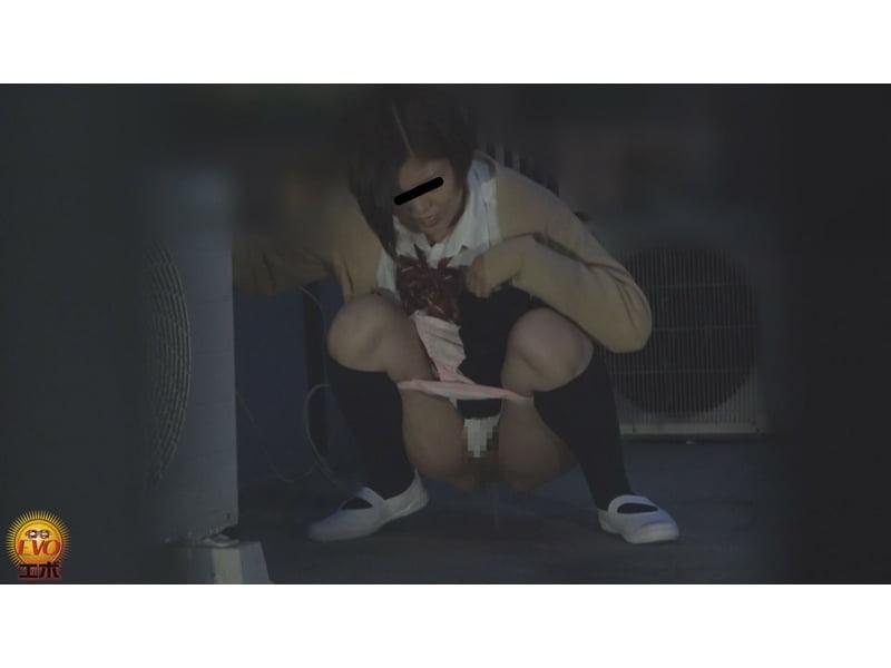 【排便盗撮】誰も来ないウチにコッソリ…女子校生たちの青空野小便を隠し撮り その9
