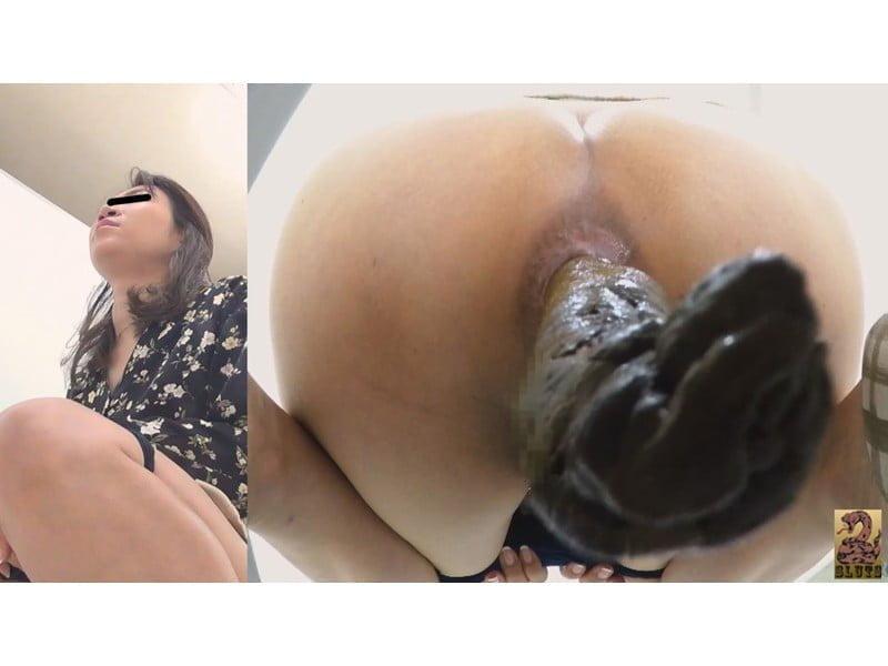 【排便盗撮】和式便所大便⑤カメ隠撮 美女のウンチとおなら その34