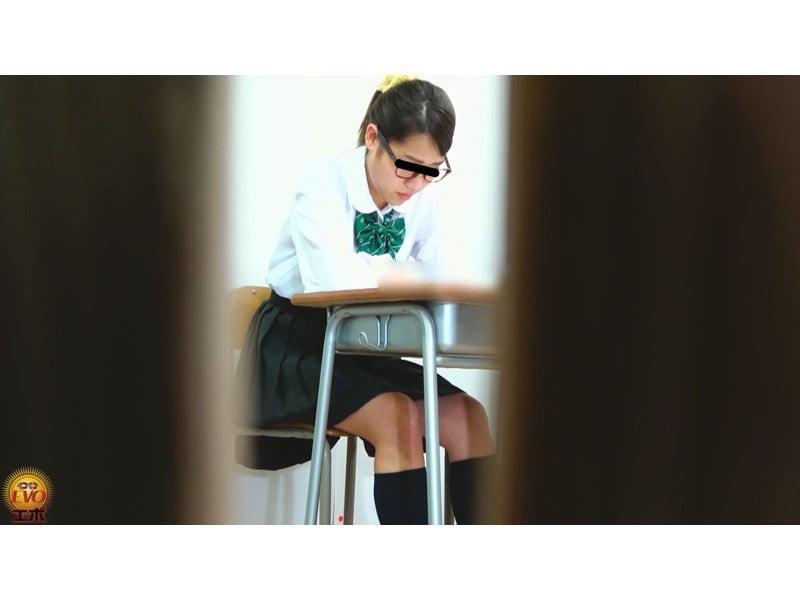 【排便盗撮】学習塾和式便所小便盗撮 静かな個室トイレに響いた女子校生のおならと爆尿 その8