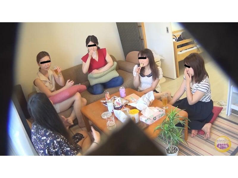【排便盗撮】脱糞女子会 酒に酔った女の子たちの大便パーティー その1
