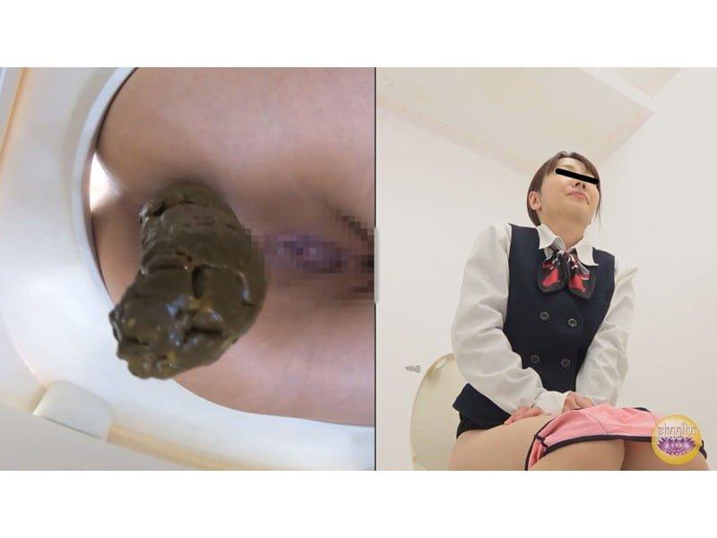 【排便盗撮】排泄音が外に全漏れでとっても恥ずかしい…給湯室横の気まずいトイレ盗撮【大便】 その3