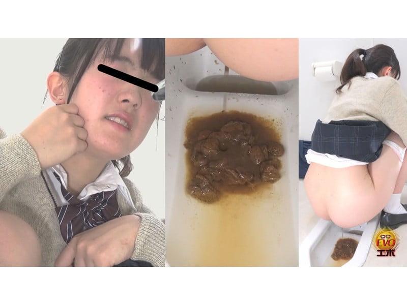 【排便盗撮】ゴリゴリの太便から下痢便まで 妹の大便観察 その6