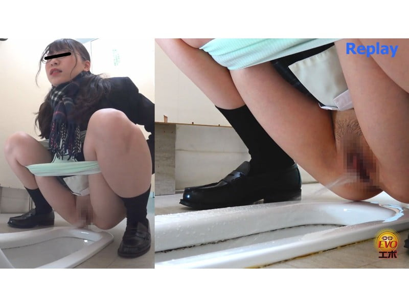 【排便盗撮】女子校生小便盗撮 ワレメから尿柱一閃!ビュッとキレの良いオシッコまとめ その7