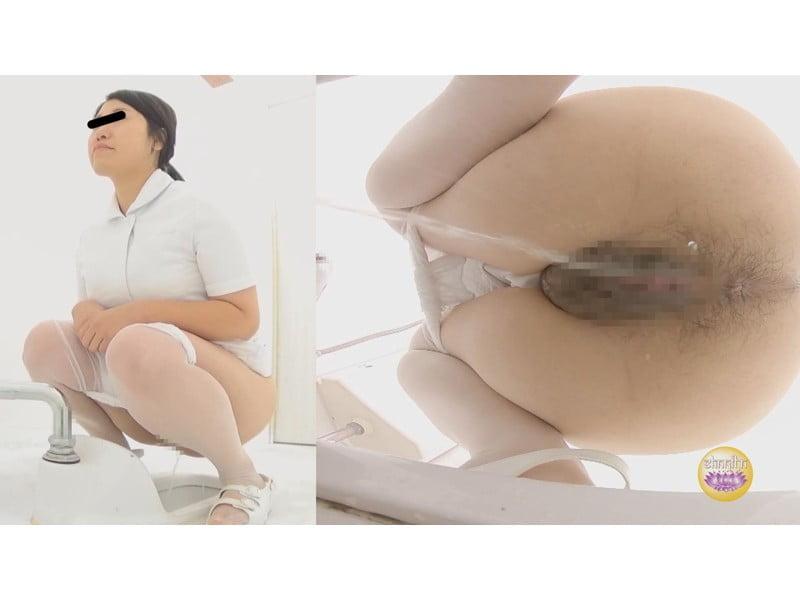 【排便盗撮】病院トイレ盗撮 白衣の天使たちの小便 その10