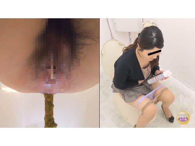 【排便盗撮】排泄音が外に全漏れでとっても恥ずかしい…給湯室横の気まずいトイレ盗撮【大便】 その11