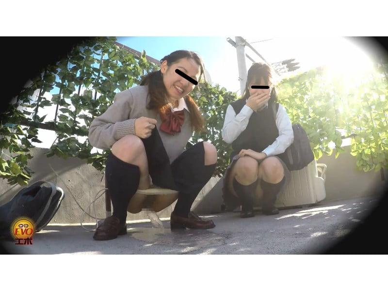 【排便盗撮】仲良く並んでジョンジョロリン♪連れション女子校生盗撮【小便】 その4