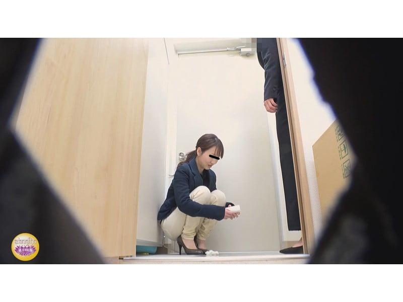 【排便盗撮】社内悪質パワハラの一部始終 後輩OLトイレ締め出し失禁 その16