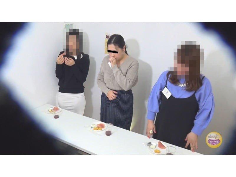 【排便盗撮】試食会で下剤混入O・P・P!被験者たちの悶絶失便をモニタリング その21