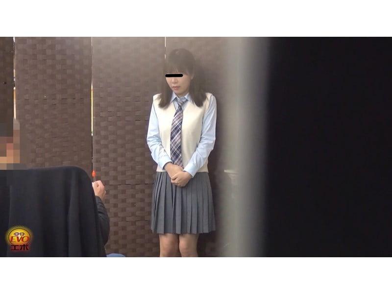 【排便盗撮】無念の失禁!女子校生トイレ目前小便お漏らし その12