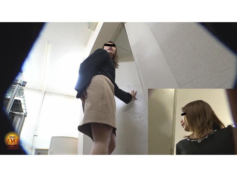 【排便観察】ケツもマンコももう限界っ!勤務中OLたちの秘密にできない小便おなら その12