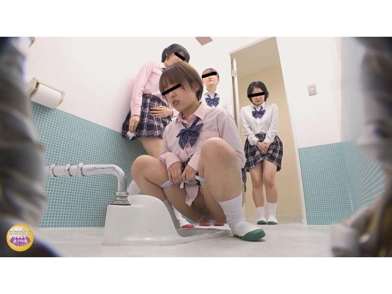 【排便盗撮】休み時間は小便待ち女子校生で大渋滞!行列のできる女子校便所観察 その14