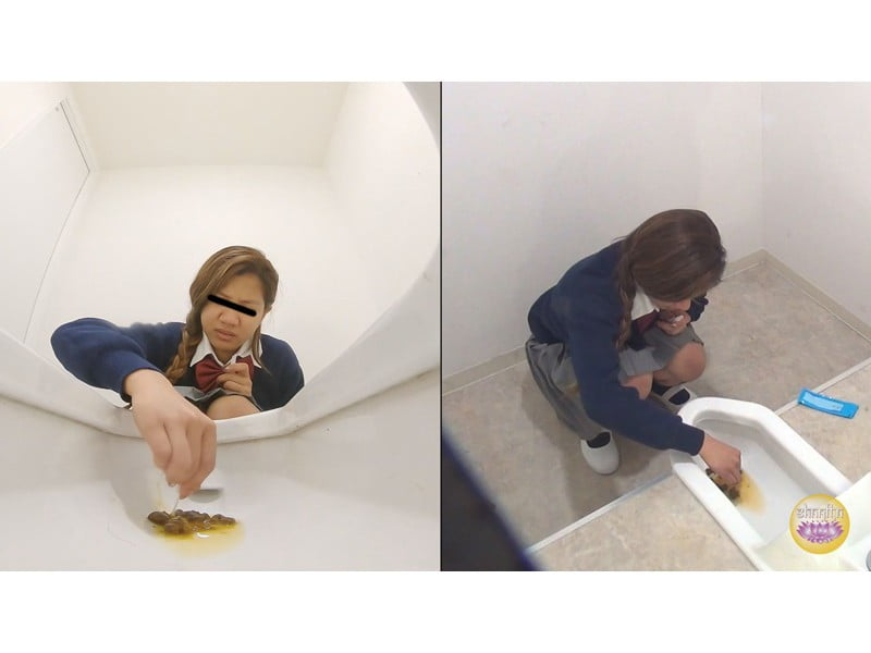 【排便盗撮】女子校便所盗撮 初めての検便に恥じらい戸惑う女子校生たち【大便】 その24