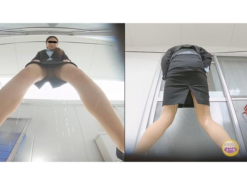【排便盗撮】トイレが無いっ!切羽詰まったOLたちの緊急事態小便 その12