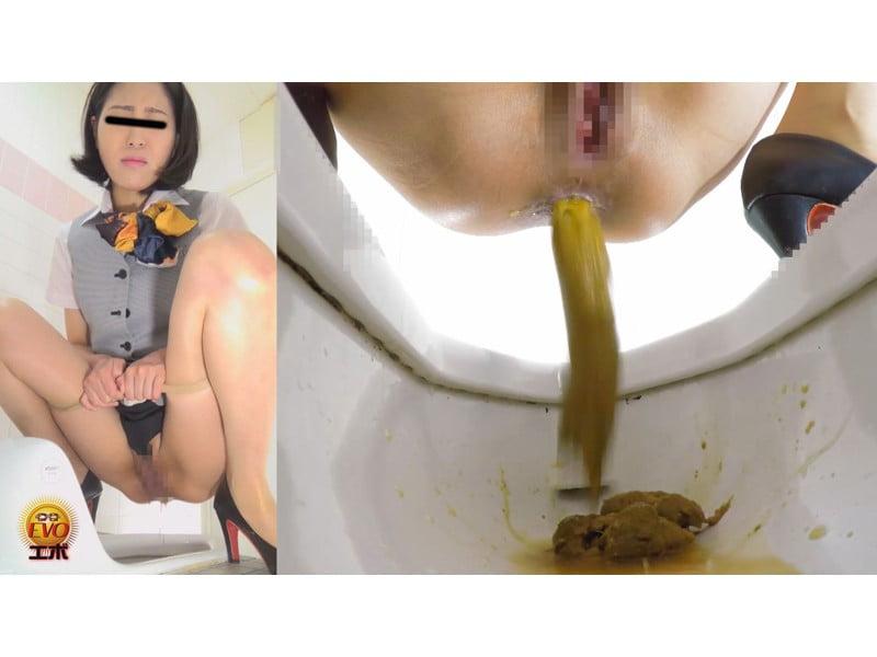 【排便盗撮】社内女子便所盗撮 オフィスレディたちのユルうんち その19